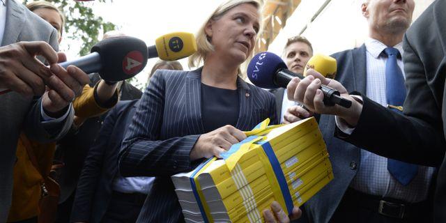Finansminister Magdalena Andersson. Janerik Henriksson/TT / TT NYHETSBYRÅN