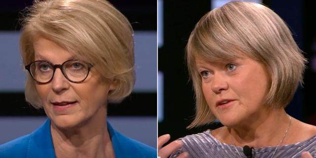 Elisabeth Svantesson (M), Ulla Andersson (V). Agenda / SVT