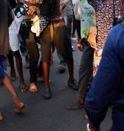 Illustrationsbild på poliser i Kinshasa efter valet i januari i år.  Jerome Delay / TT NYHETSBYRÅN/ NTB Scanpix