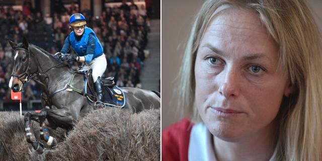 Till vänster: Sara Algotsson Ostholt med Reality 39, en annan häst än de som var med i olyckan. TT