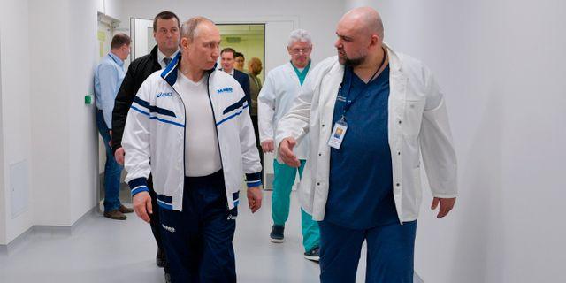 Vladimir Putin och Denis Protsenko. Alexei Druzhinin / TT NYHETSBYRÅN