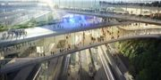 En av skisserna från Zaha Hadid Architects. Zaha Hadid Architects