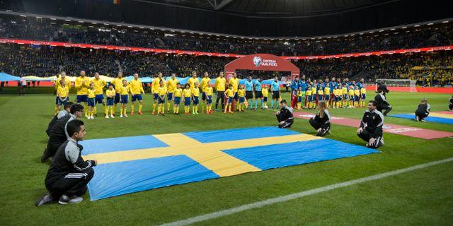 Bild från matchen i lördags mellan Sverige och Rumänien. Arkivbild. Janerik Henriksson/TT / TT NYHETSBYRÅN