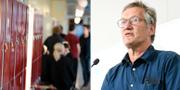 Skolkorridor, arkivbild. Anders Tegnell vid dagens pressträff. TT