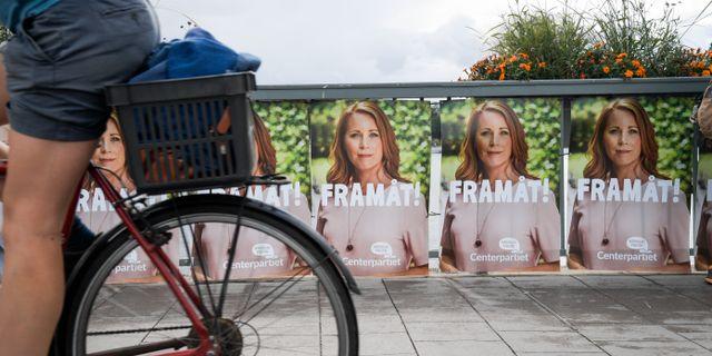 Annie Lööf vill framåt. Janerik Henriksson/TT / TT NYHETSBYRÅN