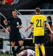 Dejan Kulusevski fick gult kort i matchen mot Kosovo.  SIMON HASTEGÅRD / BILDBYRÅN