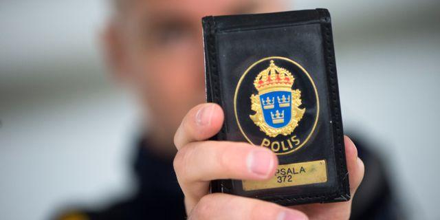 Polislegitimation. Arkivbild. FREDRIK SANDBERG / TT / TT NYHETSBYRÅN