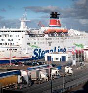 Stena-färja i Göteborgs hamn. Björn Larsson Rosvall/TT / TT NYHETSBYRÅN