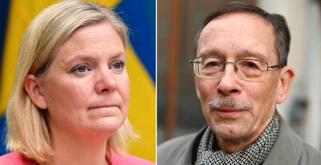 Magdalena Andersson och Lars Calmfors. TT