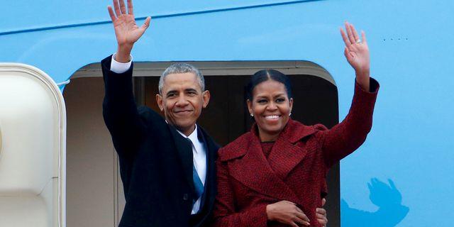 Paret Obama.  Brendan McDermid / TT NYHETSBYRÅN