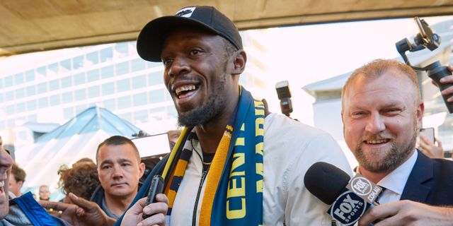 Usain Bolt.  STRINGER / TT NYHETSBYRÅN