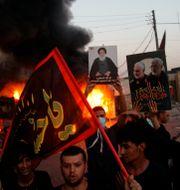 Demonstrationer efter Soleimanis död Khalid Mohammed / TT NYHETSBYRÅN