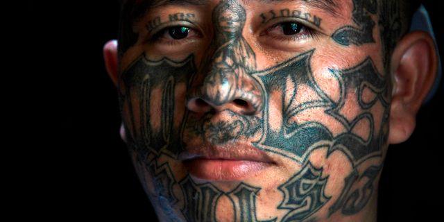 Gängmedlem i MS-13, arkivbild. MARVIN RECINOS / AFP