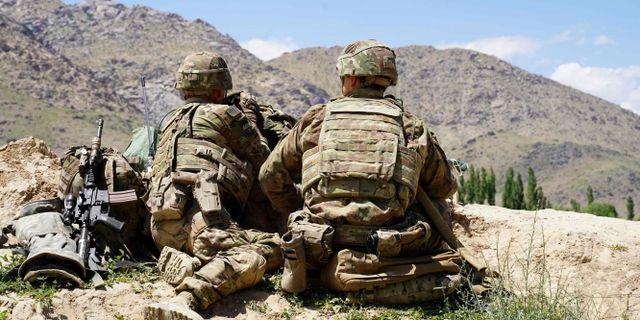 Amerikanska soldater i Afghanistan. THOMAS WATKINS / AFP