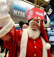 Börsen tror på tomten – i år igen. Richard Drew / TT NYHETSBYRÅN