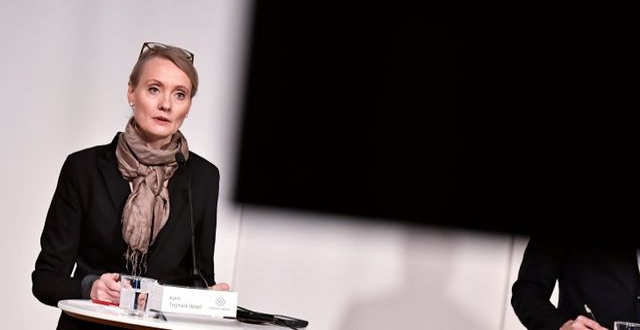 Karin Tegmark-Wisell.  Janerik Henriksson/TT / TT NYHETSBYRÅN