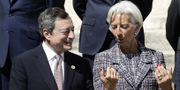 Draghi och Lagarde. Arkivbild. TT
