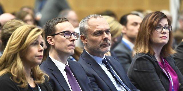 Mats Persson vid Liberalernas partiråd i söndags.  Claudio Bresciani/TT / TT NYHETSBYRÅN