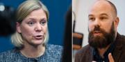 Magdalena Andersson och Daniel Suhonen. TT