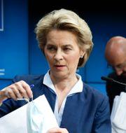 EU-kommissionens ordförande Ursula von der Leyen. Olivier Hoslet / TT NYHETSBYRÅN
