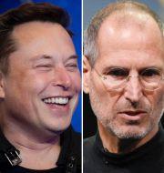 Leonardo da Vinci, Elon Musk, Steve Jobs och Albert Einstein. TT/Shutterstock