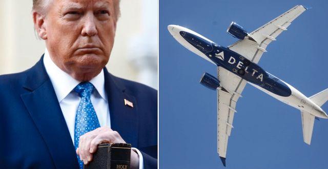 Donald Trump t.v. Delta t.h. TT