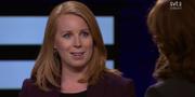 Annie Lööf i Agenda.  SVT