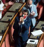 Matteo Salvini i senaten idag. Roberto Monaldo / TT NYHETSBYRÅN