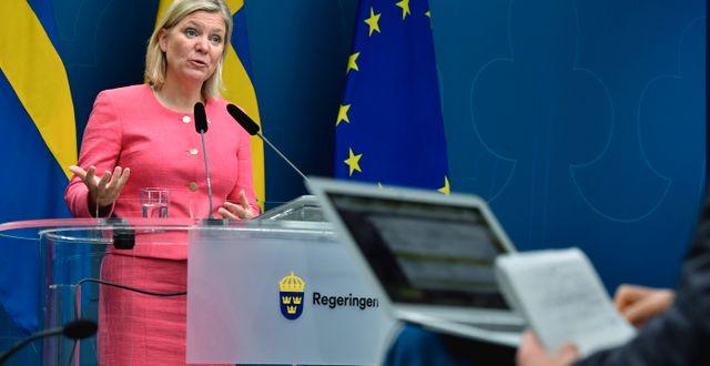 Finansminister Magdalena Andersson/Arkivbild.  Henrik Montgomery/TT / TT NYHETSBYRÅN
