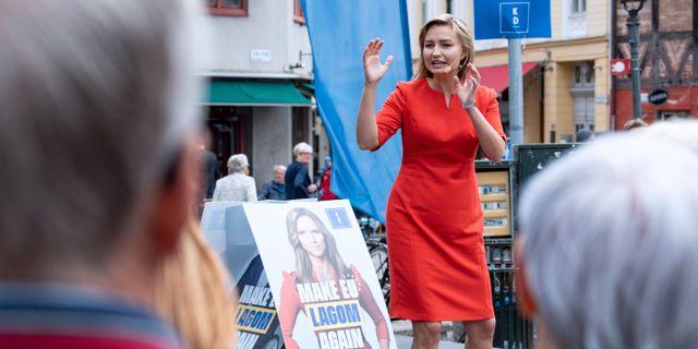 Kristdemokraternas partiledare Ebba Busch. Johan Nilsson/TT / TT NYHETSBYRÅN