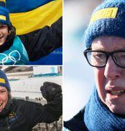 Sebastian Samuelsson, Hanna Öberg och Wolfgang Pichler. TT