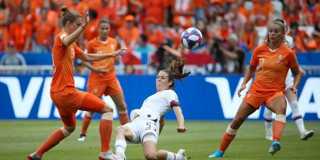 USA mot Nederländerna under sommarens VM.  DENIS BALIBOUSE / TT NYHETSBYRÅN