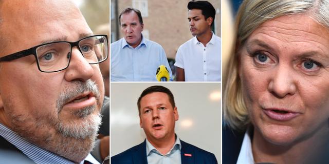 Thorwaldsson, Löfven/Botström, Baudin och Andersson. TT