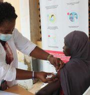 Vaccination i Nigeria. Gbemiga Olamikan / TT NYHETSBYRÅN