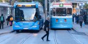 Buss och spårvagn i Göteborg.  FREDRIK SANDBERG / TT / TT NYHETSBYRÅN