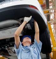 Illustrationsbild: Inifrån en Ford-fabrik i kinesiska Chongqing.  Uncredited / TT NYHETSBYRÅN/ NTB Scanpix