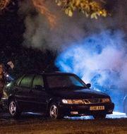 Bilbrand på Karneolgatan i Västra Frölunda i Göteborg.  Oscar Magnusson/TT / TT NYHETSBYRÅN