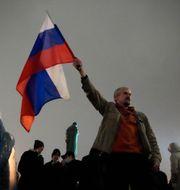 Protester mot valresultatet i Moskva. Pavel Golovkin / TT NYHETSBYRÅN