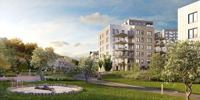 Det ligger lång planering bakom de nya bostäderna i Älvsjöstaden.  JM