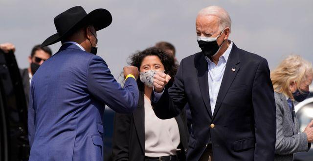 Representanthuset säger ja till USA:s president Joe Biden krispaket.  Patrick Semansky / TT NYHETSBYRÅN
