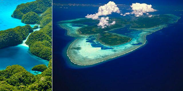 Marshallöarna och Mikronesien har några av världens vackraste öar – och de ses bäst ur fågelperspektiv. Istock/Google Maps
