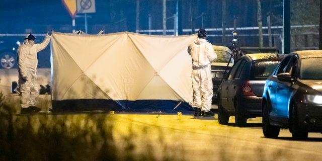 Polisens tekniker på plats i Hyllie. Johan Nilsson/TT / TT NYHETSBYRÅN
