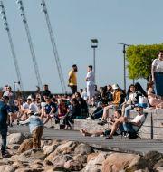 Folkliv på Sundspromenaden i Malmö. Johan Nilsson/TT / TT NYHETSBYRÅN