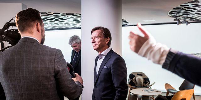 Arkivbild: Volvo Cars vd Håkan Samuelsson i samband med kvartalsrapporten i februari Magnus Hjalmarson Neideman/SvD/TT / TT NYHETSBYRÅN