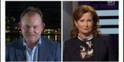 """Statsvetaren Henrik Ekengren Oscarsson intervjuas i """"Agenda"""" av Anna Hedenmo.  SVT"""