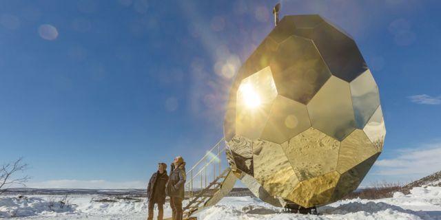 Designbastun Solar Egg flyttar till Icehotel i mars. Riksbyggen