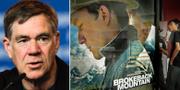 Vänster: Gus van Sant. Höger: Filmaffisch för Brokeback Mountain.  TT