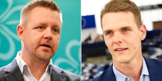 Fredrick Federley (C) och Christofer Fjellner (M). TT
