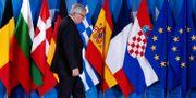 EU-kommissionens ledare Jean-Claude Juncker vid det förberedande mötet om migration i Bryssel den 24 juni.  YVES HERMAN / TT NYHETSBYRÅN