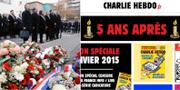 Anne Hidalgo och  François Hollande deltar på minnesceremon / Hebdos sajt 7 januari. TT / Charlie Hebdo